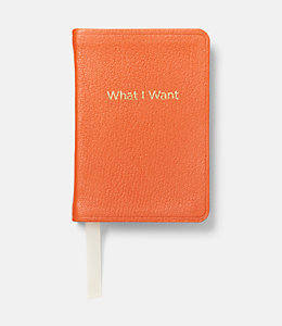 What I Want Mini Leather Journal
