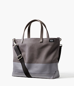Dipped Canvas Coal Tote