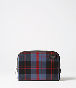 Cocharron Plaid Slim Toiletry Kit