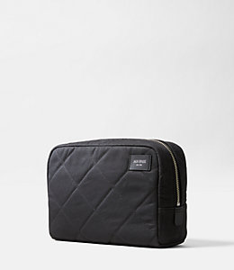 Quilted Waxwear Slim Toiletry Kit