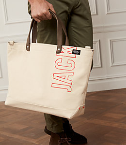 Industrial Canvas Logo Coal Bag