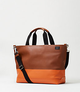 Dipped Leather Coal Bag