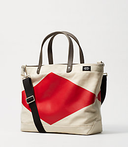 Industrial Canvas Diamond Coal Bag