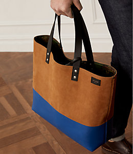 Suede Reversible Dipped Coal Bag