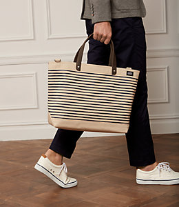 Industrial Canvas Thin Striped Coal Bag