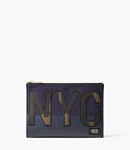 NYC Camo Cord Pouch