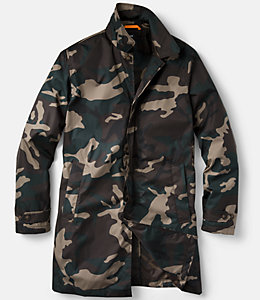 Camo Packable Trench