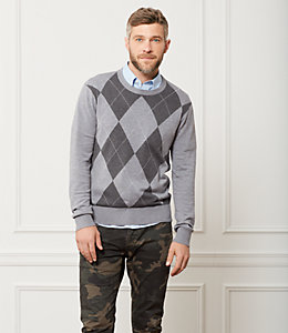 Argyle Crewneck Sweater