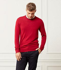 Jersey Stitch Crewneck Sweater