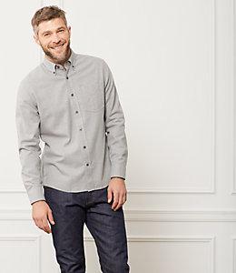 Palmer Grey Heather Houndstooth Shirt