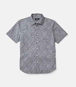 Clift Short Sleeve Confetti Print Collar