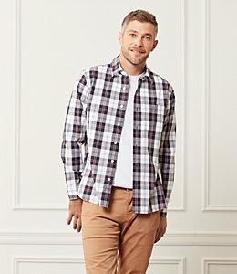 Grant Cunningham Tartan Point Collar Shirt