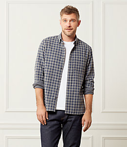 Grant Double Face Gingham Point Collar Shirt