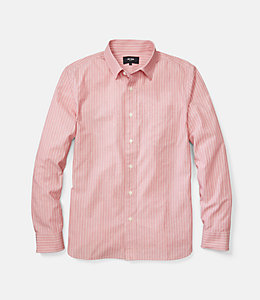 Grant End On End Dobby Stripe Point Collar Shirt
