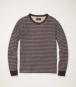 Striped Long Sleeve Crew