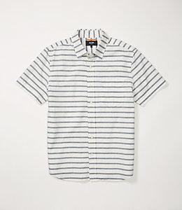 Berber Stripe Short Sleeve Poplin Shirt