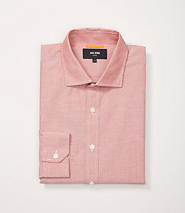 Chambray Spread Collar Shirt