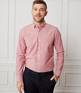 Chambray Spread Collar Shirt