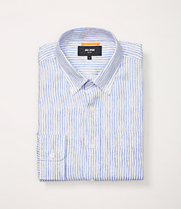 Painted Stripe Linen Shirt