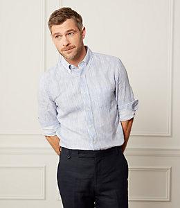 Painted Stripe Linen Shirt