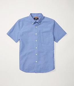 Micro Check Short Sleeve Poplin Shirt