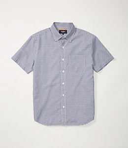Zig Zag Short Sleeve Dobby Shirt