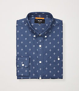 Cotton Linen Micro Print Shirt