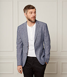 Unstructured Chambray Blazer