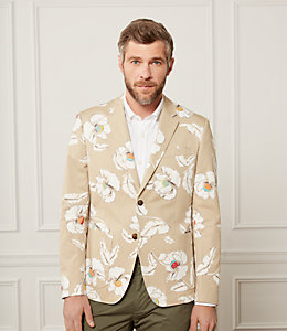 Unstructured Poppy Floral Blazer