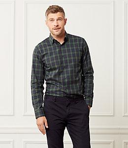 Thompson Classic Fit Plaid Tartan Dress Shirt