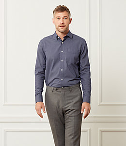 Thompson Classic Fit Solid Dobby Dress Shirt
