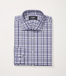 Dobby Plaid Dress Shirt