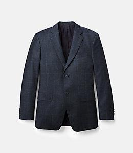 Warren Fit Wool Glen Plaid Windowpane Sport Coat