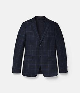 Warren Fit Silk Blend Windowpane Sport Coat