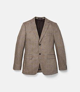 Warren Fit Silk Windowpane Herringbone Sport Coat