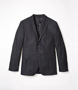 Warren Fit Wool Silk Glen Plaid Sport Coat