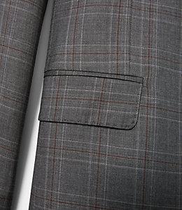 Warren Fit Textured Windowpane Sport Coat