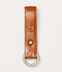 Embossed Anchor Key Fob