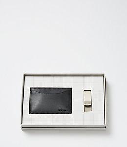 Credit Card Holder & Money Clip Gift Set