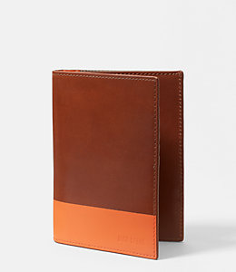 Dipped Leather Passport Wallet