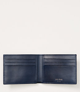 Lizard Embossed Nubuck Slim Billfold
