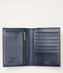 Lizard Embossed Nubuck Travel Wallet