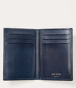 Lizard Embossed Nubuck Vertical Flap Wallet