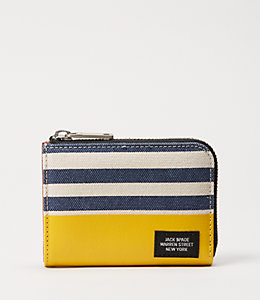 Industrial Canvas Stripes and Dipped Coin Wallet