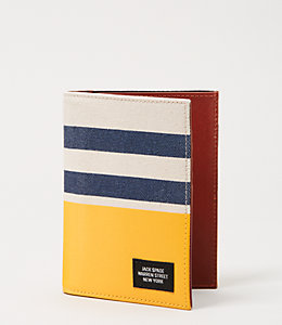 Industrial Canvas Stripes and Dipped Passport Holder Wallet