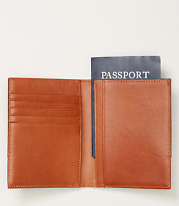 Industrial Canvas Repp Stripe Passport Holder Wallet