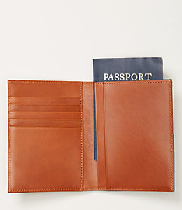 Industrial Canvas Horizontal Stripe Passport Holder Wallet