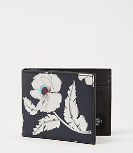 Poppy Floral Slim Billfold