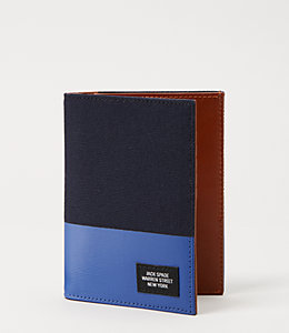 Industrial Canvas Dipped Passport Holder Wallet