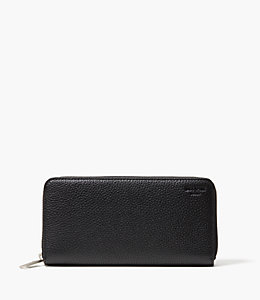 Pebbled Leather Zip Wallet